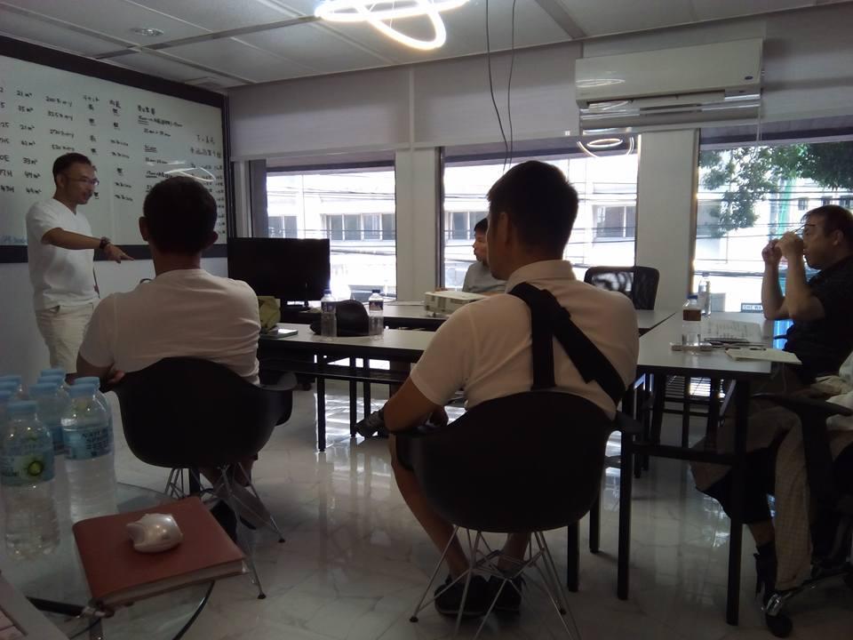 フィリピン不動産&金融ツアー最終日atWFC マカティ新オフィスで朝からフィリピンを活用した資産拡大方法をおさらい中
